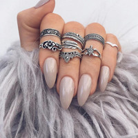 Hand painted,  stiletto press on nails, false nails,  fake nails, ballarina nails,  nude,  grey,