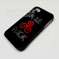 Teen Wolf Inspired Hale Pack Triskelion Triskele Symbol Derek Hale  case for  iPhone 4 Blackcase for iPhone 4/4S/5 iPod 4/5 Galaxy S2/S3/S4/Note HTC Blackberry
