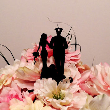 Classic Policeman and Wife Cake Topper
