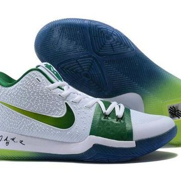 DCCK Nike Kyrie Irving 3 White/Green Sport Shoes US7-12