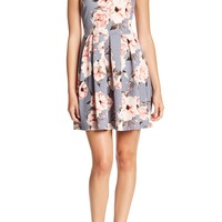 Soprano | Pleated Floral Skater Dress | Nordstrom Rack