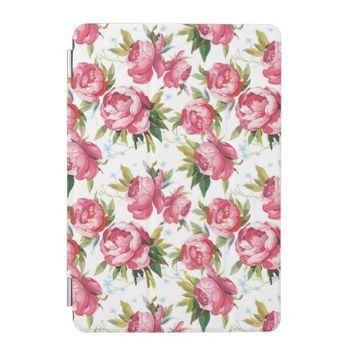 Stylish Vintage Pink Floral Pattern iPad Mini Cover