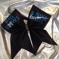 Cheer Bow - Big bows royal/silver