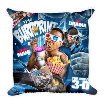 The Burrprint (16x16) All Over Print/Dye Sublimation Gucci Mane Couch Throw Pillow Insert & Pillow Case/Cover
