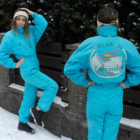 Vintage One Piece Skiing Suit / Steinebronn Sportcouture ski suit / Bright  One piece Suit / Skiing costume / Made in Austria / Small