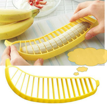 Banana Slicer Cutter Chopper Fruit Cucumber Vegetable Peeler Kitchen Tool