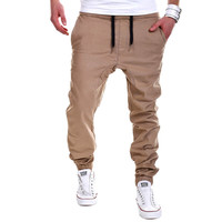 Mens Joggers 2017 Brand Male Trousers Men Pants Casual Solid Pants Sweatpants Jogger khaki Black Large Size XXXL