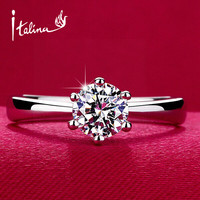 Classic Design Simulated Diamond Wedding Ring