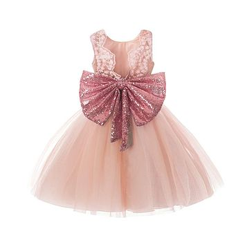 Toddler Girls Dresses New Princess Girl Clothes Sequins Bowknot Sleeveless Party Tutu Gowns Children Dress