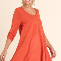 Layered Fall Dress - Orange