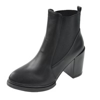 Women's Black Pointed Toe Boots D1117