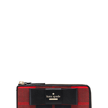 Kate Spade Julia Street Plaid Nisha Cherry Liqueur Multi ONE