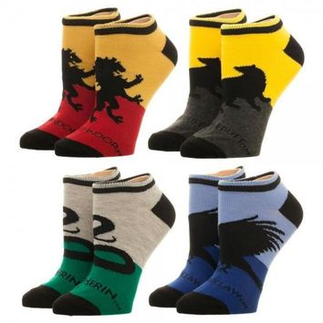 Harry Potter Hogwarts House Ankle Socks 4 Pack