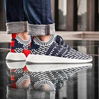 ADIDAS NMD R2 PRIMEKNIT BLUE *SHIPS NOW* Sz 7-13 BOOST ULTRA PHARRELL BB2909
