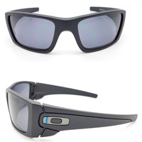 NEW Oakley Sunglasses Fuel Cell Black Grey Thin Blue Line Si military oo9096-G5