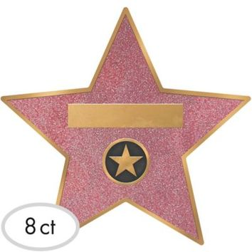 Hollywood Star Decals 8ct | Party City