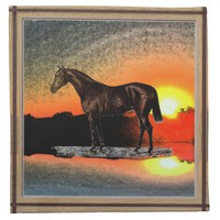 Brown Horse Cloth Napkin