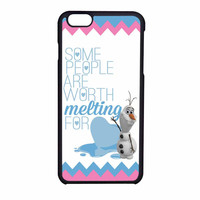 Olaf Quote Melting The Disney Frozen Pink Blue Chevron iPhone 6 Case