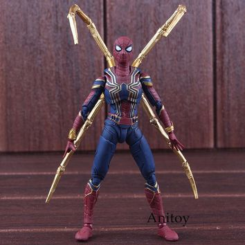 S.H.Figuarts SHF Figure Avengers Infinity War Iron Spider Spiderman Toys PVC Marvel Action Figures Collectible Model Toy