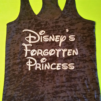 Disney's Forgotten Princess.Womens Workout Tank Top. Fitness Tank Top.Womens Burnout tank.Running Workout Tank.