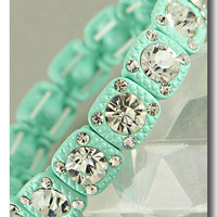 Mint Pastel Genuine Crystal Bracelet