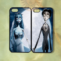 Corpse Bride Couple Cases iPhone 5, 5s, 5c, 4s, 4, ipod touch 4, 5, Samsung GS3 GS4-Silicone Rubber, Hard Plastic cover