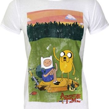 Adventure Time Camping Kings Painting Men's White T-Shirt - Buy Online at Grindstore.com