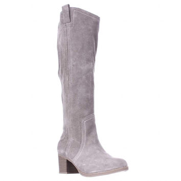 White Mountain Bethesda Western Knee High Slouch Boots, Stone, 6.5 US