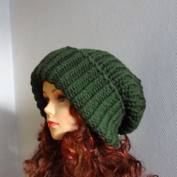 3fcd6fb5479 Super Slouchy Beanie Big Slouch Baggy Hat Winter Adult Teen Fashion Chunky  Knit Slouch Knitted Hat