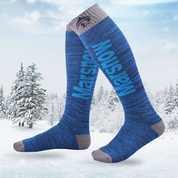 Professional Warm Heated Snowboard Socks Men Winter Warming Warm Thermosocks Knee High Winter Skiing Socks Sport