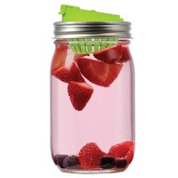 Jarware Mason Jar Re-Purposing Fruit Infusion Flavor Infused Water Lid - Fits Regular Mouth Jars