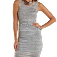 Ruched Sleeveless Space-Dyed Dress