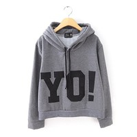 ZLYC YO! Freestyle Print Hoodie for Girls