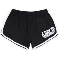 A Day To Remember Women's  Homesick Booty Shorts Black