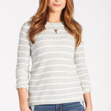 Striped Open Back Sweater by FATE