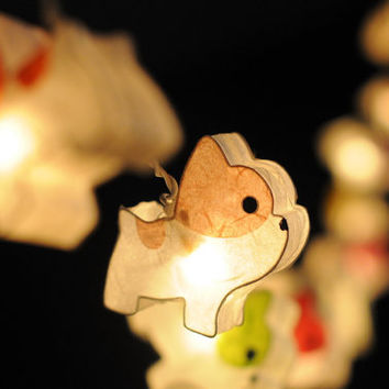 20 puppy bulldog colorful string light kid bedroom light indoor lantern garland decoration cartoon cute gift