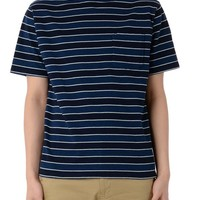 INDIGO BORDER POCKET TEE