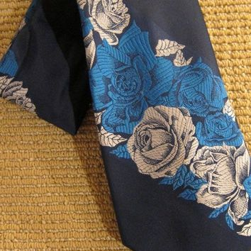 Vintage 1970s Luau Eruption + Retro Floral Tie