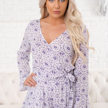 Count On You Printed Romper (Purple)