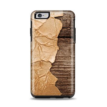 The Vintage Paper-Wrapped Wood Planks Apple iPhone 6 Plus Otterbox Symmetry Case Skin Set