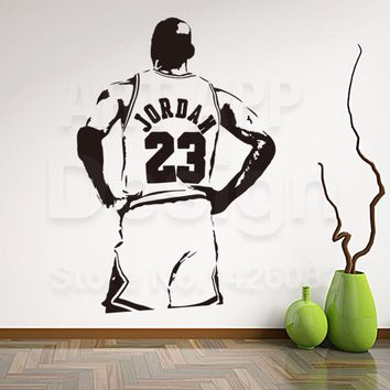 New art design Jordan home decoration vinyl basketball player Michael wall Sticker Rem