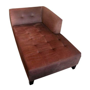 Pre-owned Brown Tufted Chaise Lounge