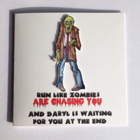 Zombie Card, The Walking Dead Card, Funny Zombie Card, Birthday Card