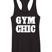 Gym Chic Tank-Black