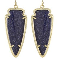 Skylar Earrings in Blue Goldstone - Kendra Scott Jewelry