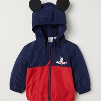 Fleece-lined Jacket - Dark blue/Mickey Mouse - Kids | H&M US