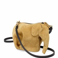 Loewe Elephant Suede Mini Bag, Gold