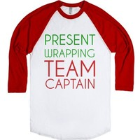 Present Wrapping Team Captain-Unisex White/Red T-Shirt