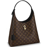 Louis Vuitton Monogram Canvas Flower Hobo Shoulder Handbag Noir Article: M43545 Made in France