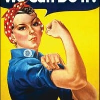 We Can Do It Women Empowerment  Decorative Sign WW2